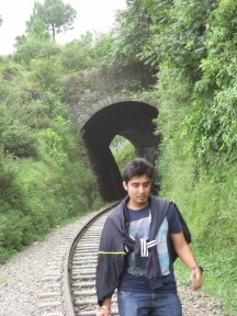 That's me at the toy train track