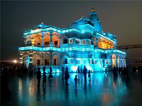 prem-mandir-night