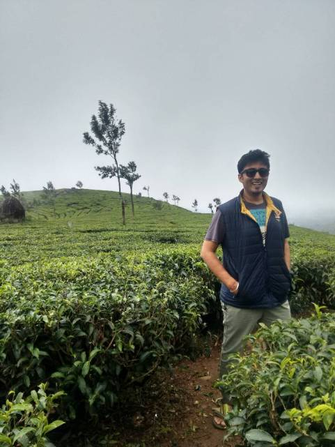 That's me enjoying in the tea estate